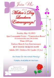 Mother's Day Luncheon Flyer