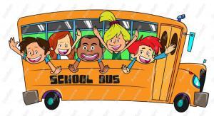 Children On A School Bus Clip Art
