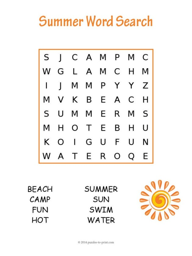 easy-summer-word-search
