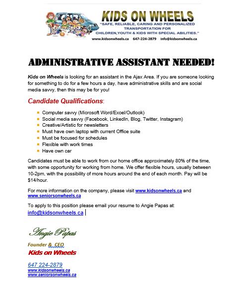 Admin Assistant