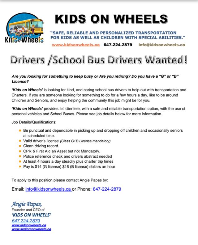Driver - Bus driver AD 2019
